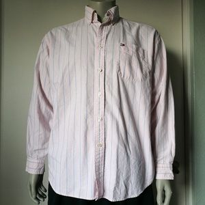 TOMMY HILFIGER Button Down Pinstripe Shirt Large